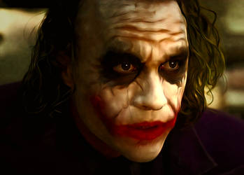 The Joker : Heath Ledger in Batman the Dark Knight by petnick