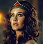 the majesty of Lynda carter as Wonder Woman