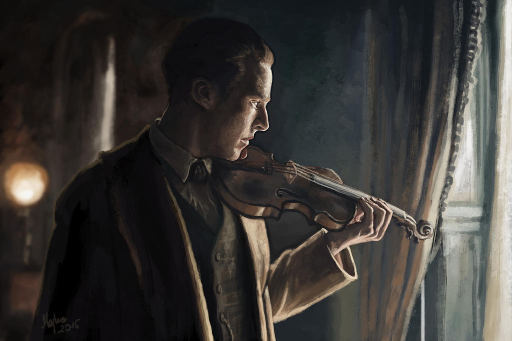 Sherlock in 1895 by Myarine