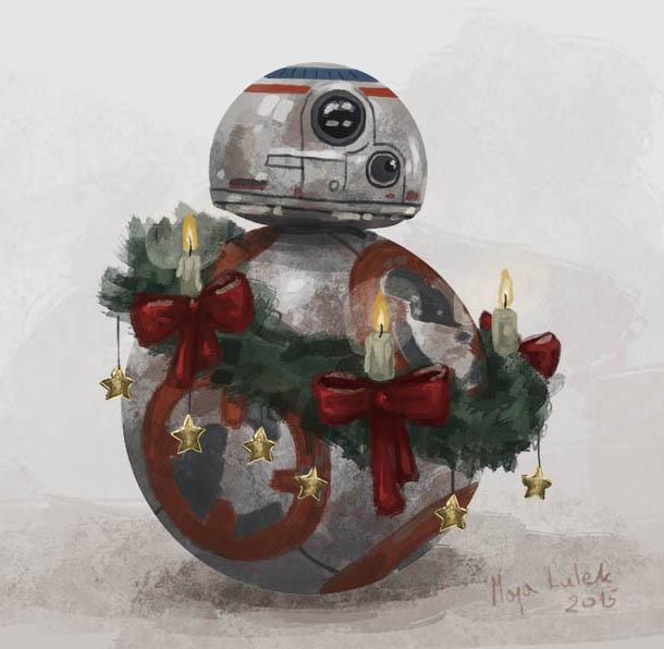 Christmas BB8 by Myarine