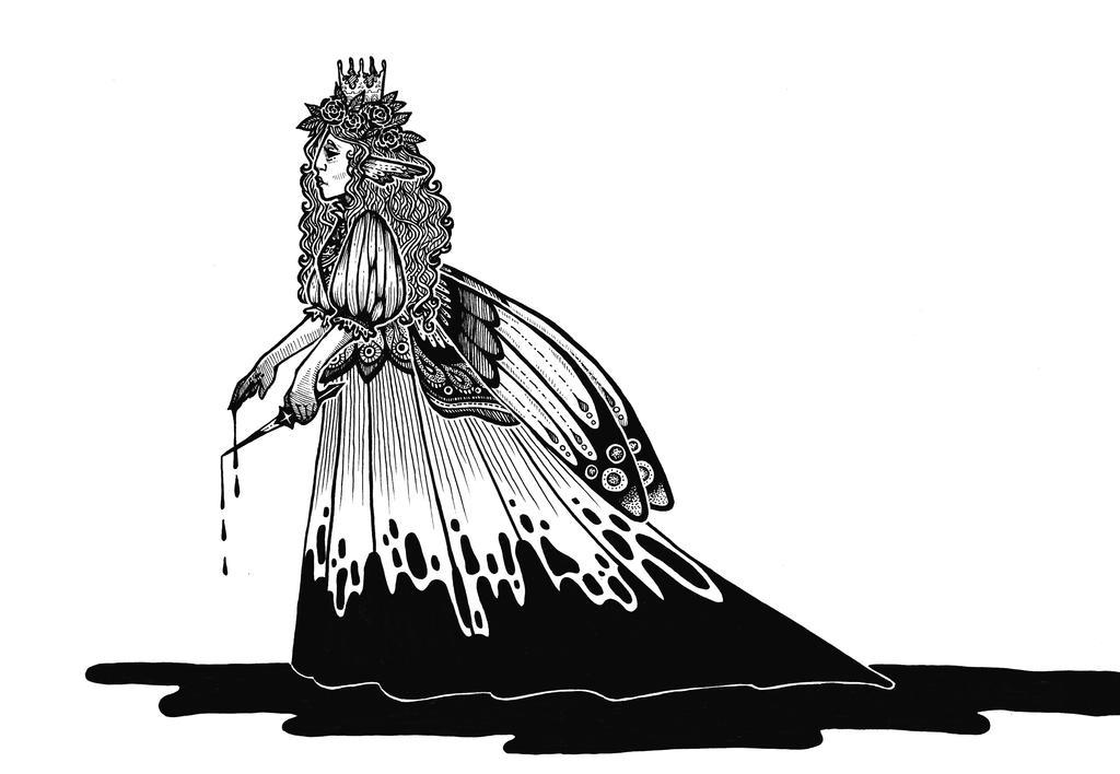 Moth queen by Myarine