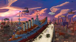 The USS California ''The Yankees have arrived!'' by DesertGuerilla