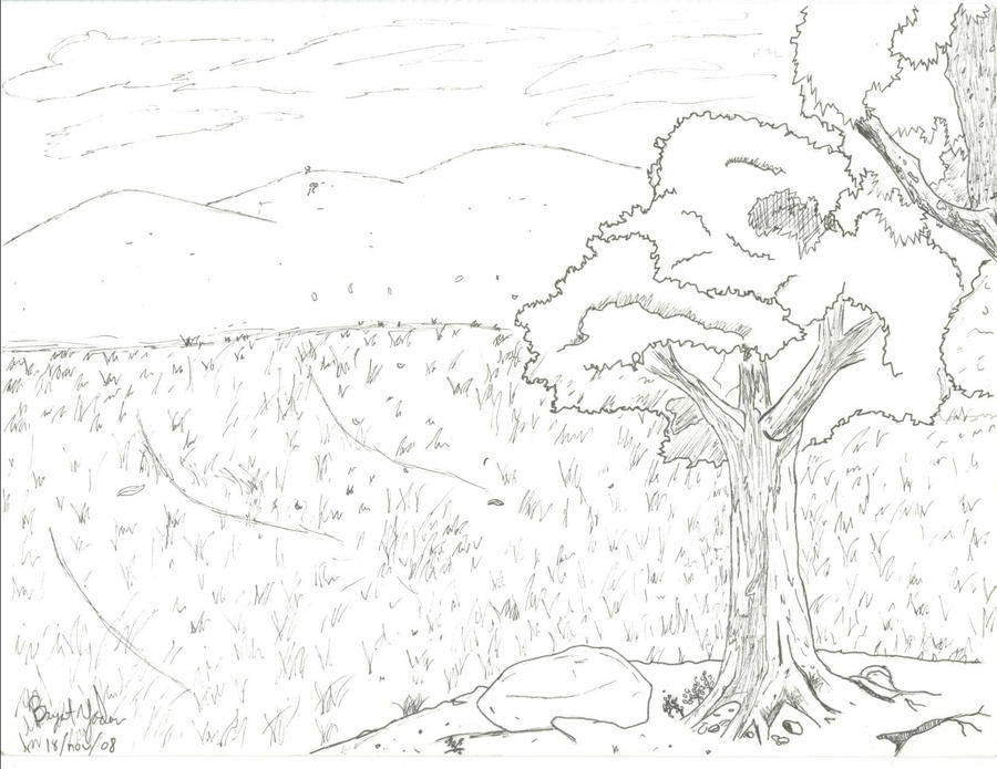 Grassland animals drawing for Grassland coloring pages