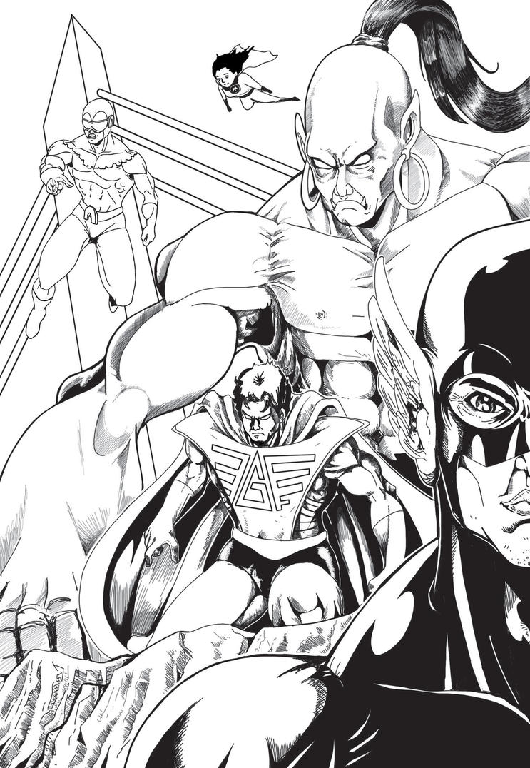 justice league indonesia by Dieghart