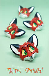 Red Fox magnets GIVEAWAY by Merionic