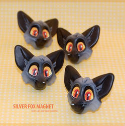 Silver Fox Magnets by Merionic