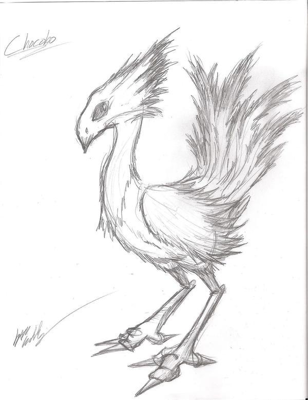 Chocobo Sketch by Irken-Invader-Sam