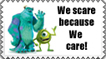 We Scare because We care Stamp by Tadadada