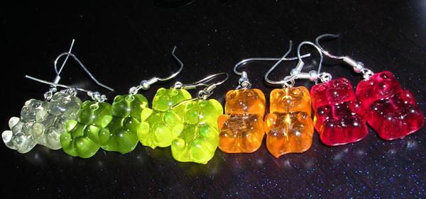 gummy bear earings by Tadadada