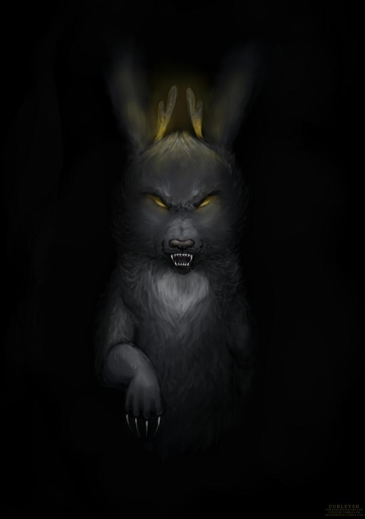 Jay - Vampire Rabbitcat by curleysh