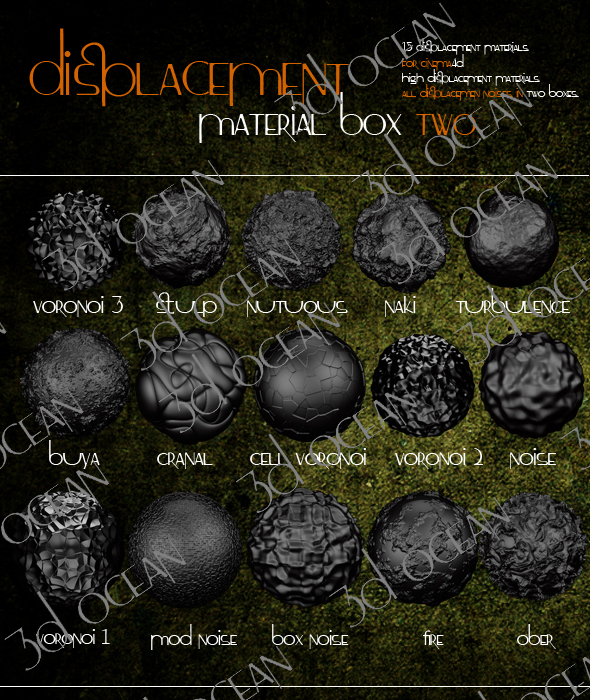 displacement material box 2 - cinema4d by codesignofficial