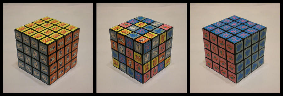 4x4x4 Cute Picture Cube by Syns-Stuff
