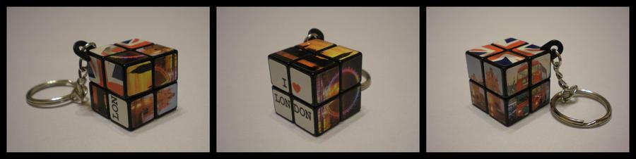 2x2x2 London Keychain by Syns-Stuff