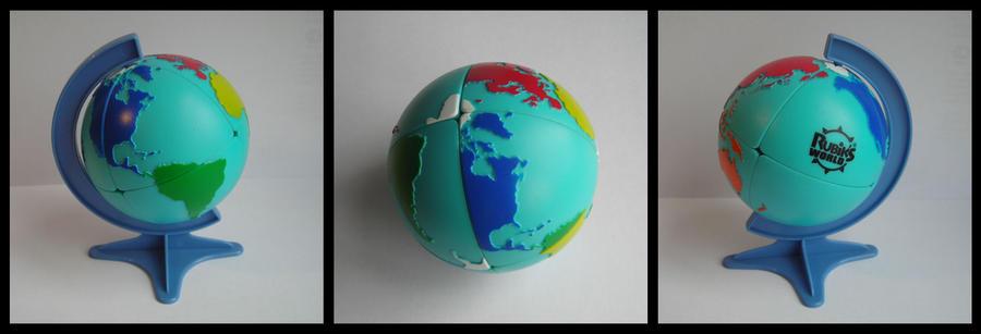 Rubik's world globe by Syns-Stuff