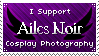 I Support Ailes Noir Stamp by Oreleth