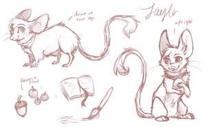 Fayla Ref Sheet WIP by Fayven