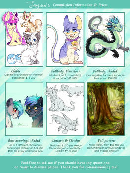 My Commission Pricelist