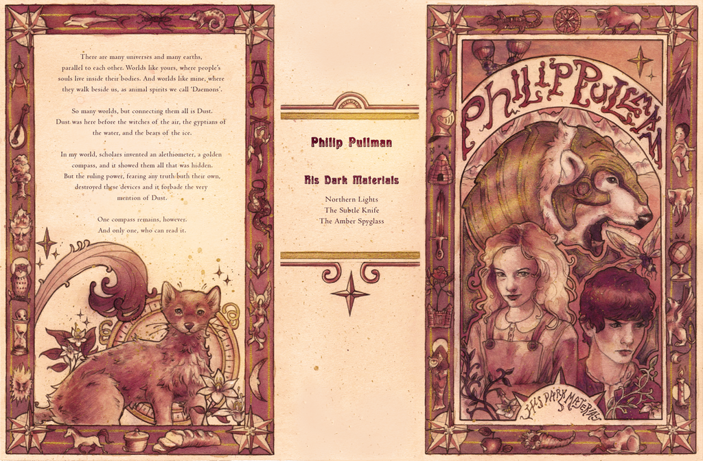 Book Covering Materials : His dark materials book cover by fayven on deviantart