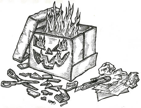 Jack O'Lantern Cardboardbox-Style