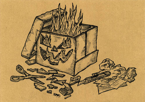 Jack O'Lantern Cardboardbox-Style [updated]
