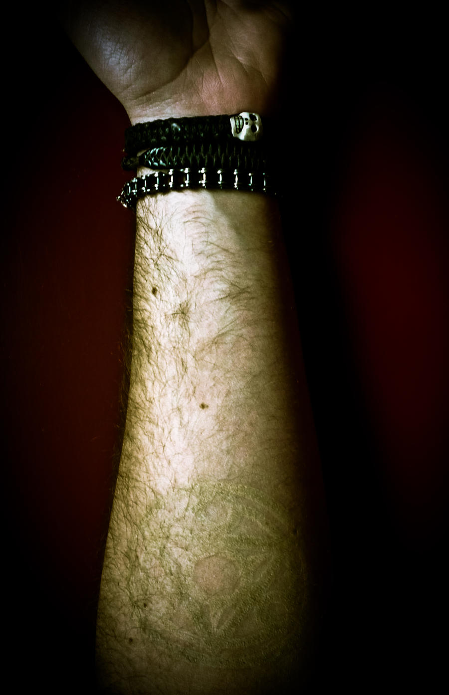 Almost invisible tattoo by 0faith0 on deviantart for Invisible ink tattoo removal price