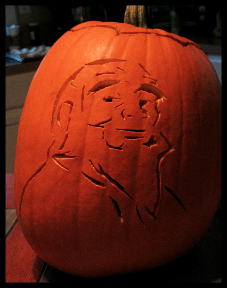 Uncle Iroh's Pumpkin by DarthKaeru