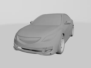3D car model - front