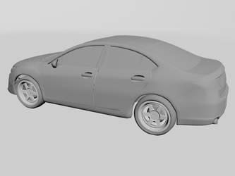 3D car model - back