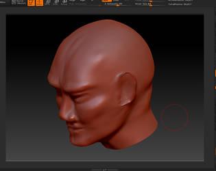 High-poly 3D head