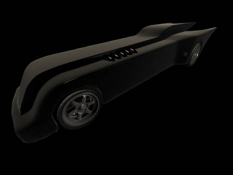 W.I.P. BTAS Batmobile Test Render 2