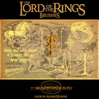 The Lord of the Rings brushes by AmarieVeanne