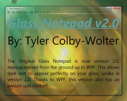 Glass Notepad 2.0 - Preview