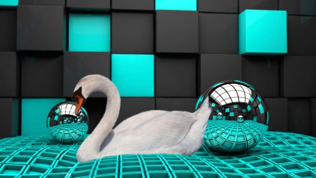 photoshop swan by moondaggersoul
