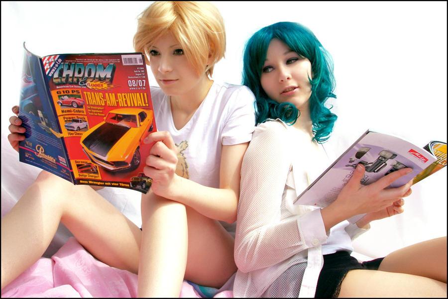 """Haruka + Michiru """"hobbies"""" by elsch"""