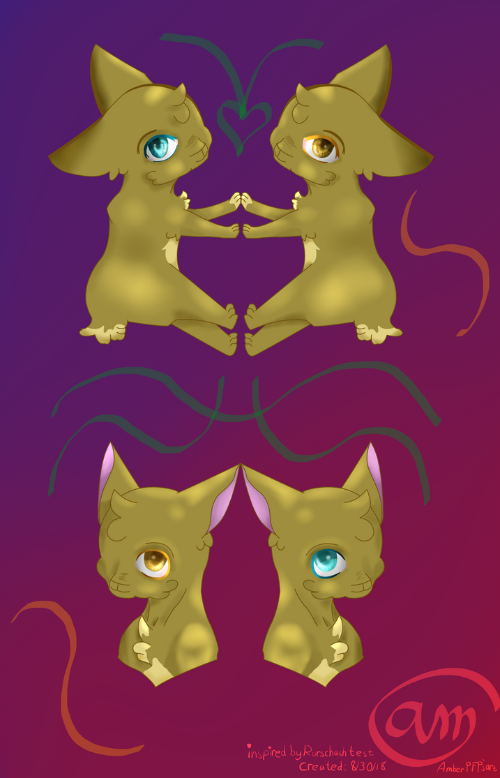 Two animals inspired from the Rorschach test. by ziggybaby04