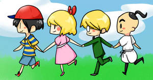 earthbound posse by kirbywirby