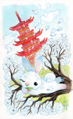 White Cherry Bunny