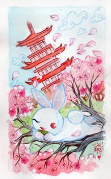 Pink Cherry Bunny