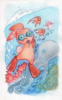 Summer Octopus Bunny