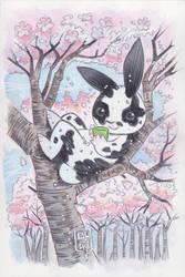 Commission: Green Tea Bunny