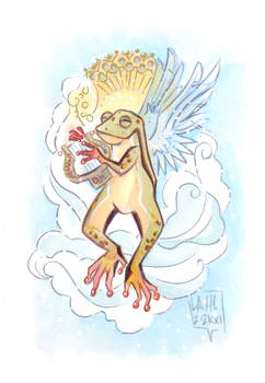 Commission: Angelic Frog