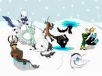 Snowball Fight by DozingBear