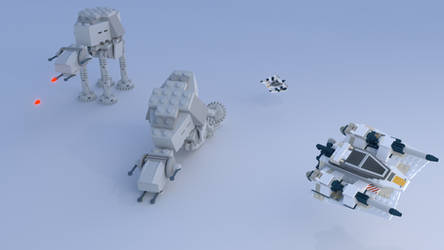 Lego Miniatures Battle on Hoth. by Crias