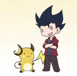 Pokemon Trainer and Raichu