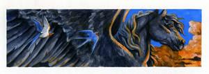 Pegasus bookmark by Hbruton
