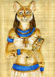 Papyrus Baast by Hbruton