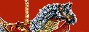 Carousel Bookmark: Warhorse by Hbruton