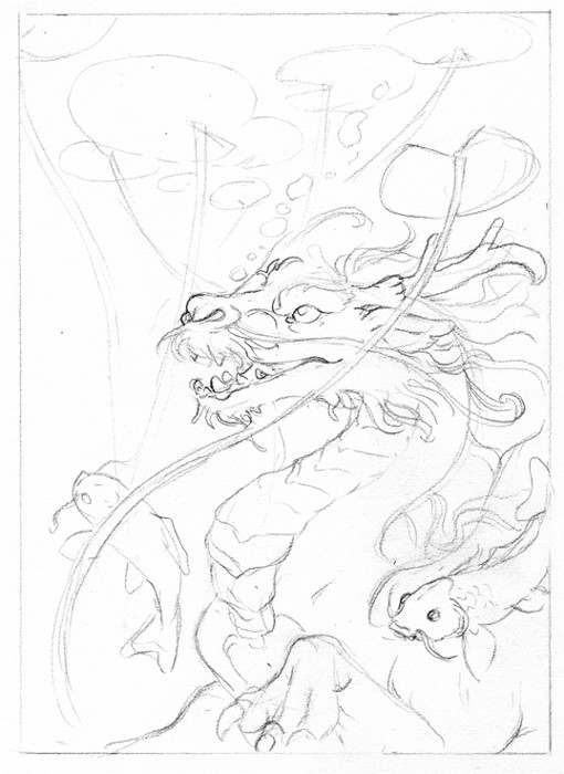 Koi Dragon Sketch Koi Dragon Sketch by Hbruton