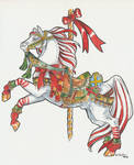 Cand Cane Carousel Horse