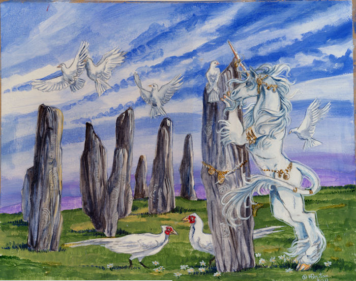 Rare calendarunicorn by Hbruton
